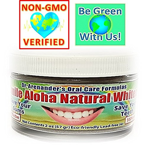 Smile Aloha Natural SAFE Teeth Whitener - Whitens Your Teeth and at the same time helps to: Reduce Gum Disease, Recession, Plaque, Bleeding & Inflammation