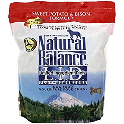 Natural Balance Sweet Potato And Bison Formula Dog Food, 5-Pound Bag
