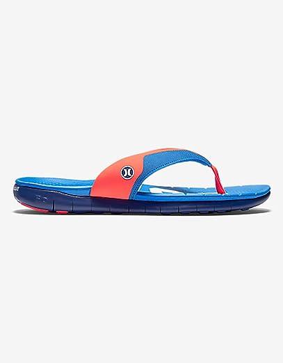 Hurley Phantom Nike Free USA Olympic Blue Men's Sandals Flip Flops Size 12