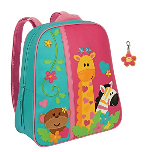 Stephen Joseph Girls Zoo Animals Backpack with Zipper Pull - Kids - Stephen Joseph Zoo