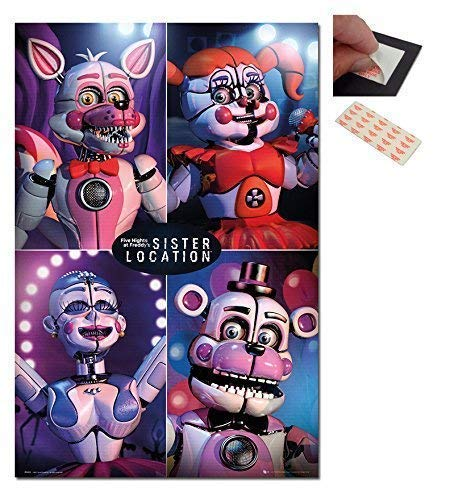 (Five Nights At Freddys Sister Location Quad Poster - 91.5 x 61cms (36 x 24 Inches))