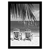 Americanflat 13x19 Black Poster Frame - Shatter-Resistant Glass - Hanging Hardware Included