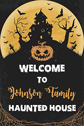 Haunted House Welcome Halloween Sign Customized Halloween Party Poster Size 36x24 Welcoming Banner Fright Night Parties Theme ()