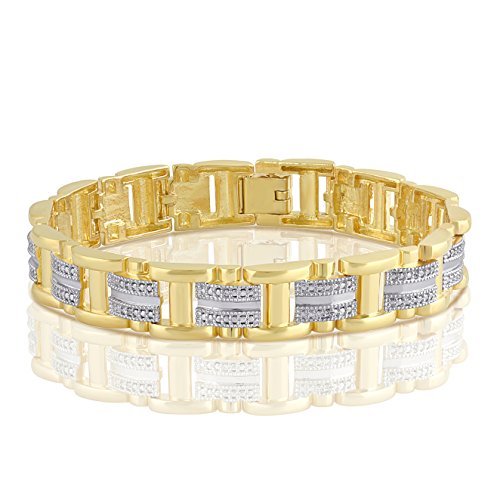Diamond Accent Men's Link Bracelet (Bracelet Man Diamond)