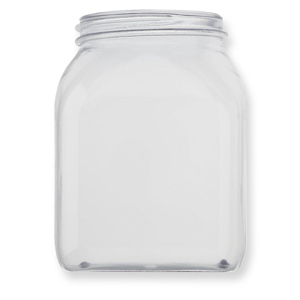 Qosina 99885 PVC Wide Neck Jar, Square, 500mL Capacity (Pack of 25)