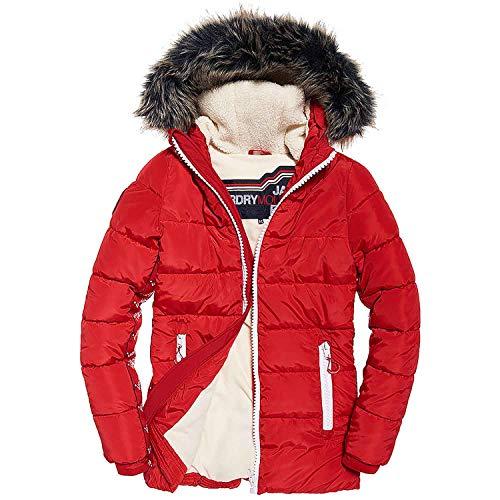 Pour Veste Rouge Streetwear Superdry Qwssc7 Femme wwRpg4q