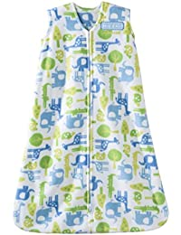 SleepSack Micro-Fleece Wearable Blanket, Blue Jungle, Small