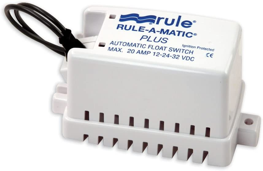 Rule-A-Matic Float Switch w//Fuse Holder