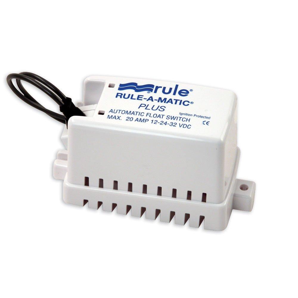 Rule MATIC Plus Float Switch, Coperte, umidità Tight Seals, White, S umidità Tight Seals 40A