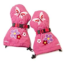 Veyo Kids - Flutter Mittyz - Waterproof Kids Mittens | Toddler Gloves | Easy on, Stay on, | Perfect for Snow Skiing, Sledding, and Winter Play