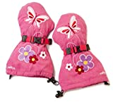 Veyo Kids - Flutter Mittyz - Waterproof Kids Mittens | Toddler Gloves | Easy on, Stay on, | Perfect for snow skiing, sledding, and winter play (Medium 2 - 4 Years)
