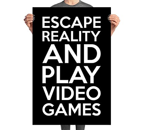 533161604ddb Image Unavailable. Image not available for. Color  Damdekoli Escape Reality  Gaming Poster