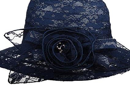 Dantiya Summer Lace Beach Sun Hat Kentucky Derby Church Dress Bucket Hat