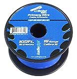 Audiopipe 18 Gauge 100 Feet Primary/Remote Wire - Blue
