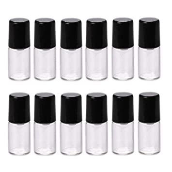 3d0784ea1b93 Amazon.com : NATUWORLD 12 Pcs Mini Clear Glass Roll-on Bottles Empty ...