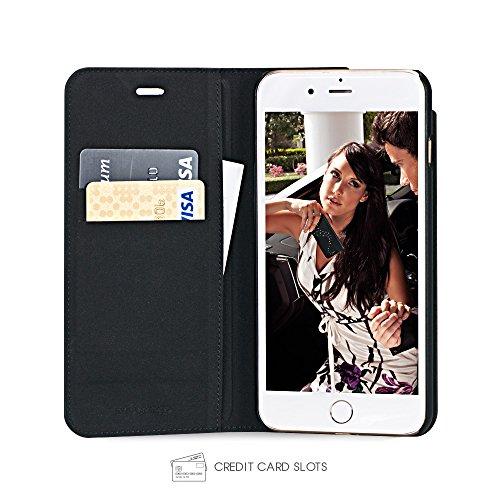 Bling-My-Thing iP7-l-pri-mw-blk Milky Way Wallet Serie Luxuriöses und einzigartiges Design veredelt mit original Swarovski Kristallen, modisches Leder-Case für Apple iPhone 7 Plus Starry Night