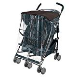 rain cover for stroller xl - Comfy Baby! Rain-cover Special Designed for the Maclaren Double Stroller, Comes with Clear See-Thru Windows with Extra Sun Shade, Plus Protection Net When Window is Open