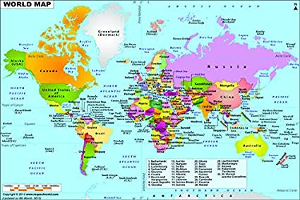 Hd Map Of The World.Poster King World Map Of Political Map Hd Quality Poster For Room