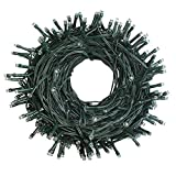 Decute Upgraded 105 Feet 300 LED Christmas String Lights End-to-End Plug 100% UL Certified Fairy Light Outdoor Indoor Wedding, Party, Patio, Porch, Backyard, Garden Decoration Warm White
