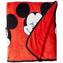 "Disney Mickey Mouse Faces 62"" x 90"" Plush Twin Blanket"