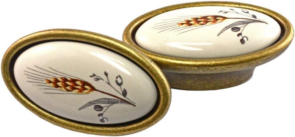 Vintage M/öbelknauf mit Porzellan-Inlay wei/ß Avorio 34 x 25 x 58 Qualit/ät aus Europa seit 1998