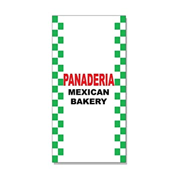 Panaderia Mexican Bakery Red Black Bar Restaurant DECAL STICKER Store Sign Sticks to Any Surface