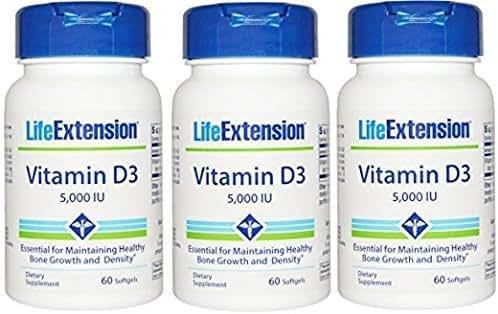 Life Extension Vitamin D3 5000 IU 180 softgels