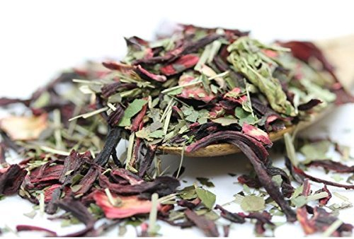 Tealyra - Ruby Red Guayusa - Hibiscus Lemongrass - Herbal and Fruity Loose Leaf Tea Blend - Naturallly Caffeined - Healthy - Energy Boost - All Natural - 110g (4-ounce)