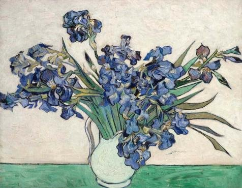 Oil Painting 'Vase Of Irises, C.1890', 8 x 10 inch / 20 x 26 cm , on High Definition HD canvas prints is for Gifts And Home Office, Home Theater - Sunglasses Johnson Don