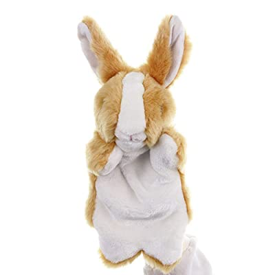 """Baidercors Soft Easter Bunny Plush Hand Puppets 12"""": Toys & Games"""