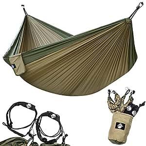 legit camping double hammock   lightweight parachute portable hammocks for hiking travel backpacking amazon    legit camping double hammock   lightweight parachute      rh   amazon