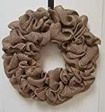 Natural Burlap Wreath Rustic Decor Review