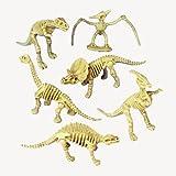 "2 Dozen (24) DINOSAUR Skeleton Figures - 3.5"" PARTY Favors - Prizes - Pretend Play SCIENCE Dino Bones Fossils"
