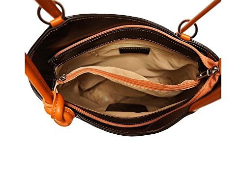 Nero Donna A Borsa Florence Black 207 Zainetto Leather wX4Y4qt