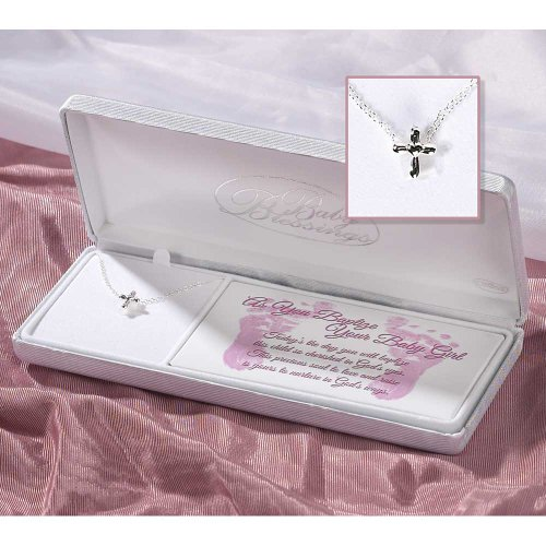 Sterling Silver Blessings Baptism Necklace product image