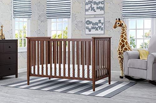 Delta Children Grayson 3-in-1 Convertible Baby Crib Walnut
