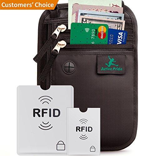 Brustbeutel für Damen und Herren zum Reisen - Brusttasche mit RFID-Blockierung - Umhängetasche Klein