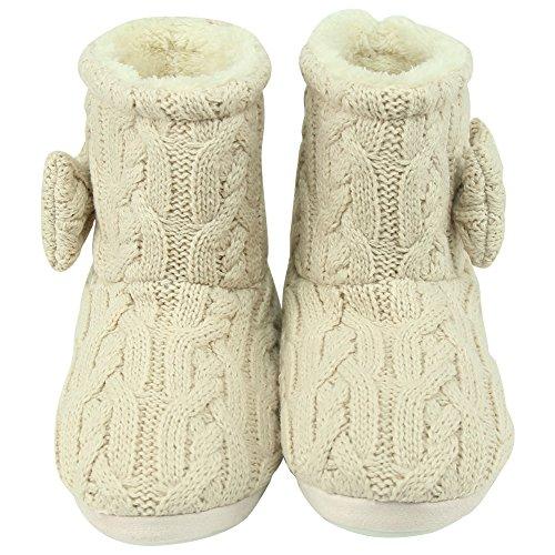 Voor Dames Zachte Fleece Winter Warm Indoor Huis Mode Laarzen Pantoffels Roze