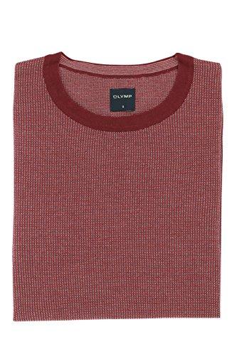 OLYMP Strick Herren Pullover Casual Modern Fit in Chianti Rot Größe S - Rundhalsausschnitt