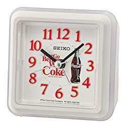 Seiko Coca-Cola Beep Alarm Clock - White