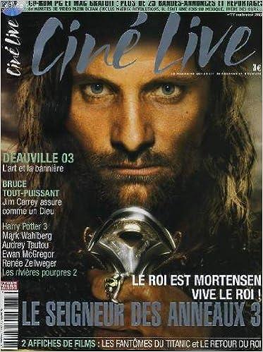 Ebooks grec téléchargement gratuit Cine live - n° 71 - le seigneur des anneaux 3 in French PDF PDB CHM B003WVQJJK