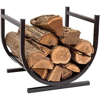 Amazon.com: HollyHOME Small Decorative Indoor/Outdoor Firewood Racks ...