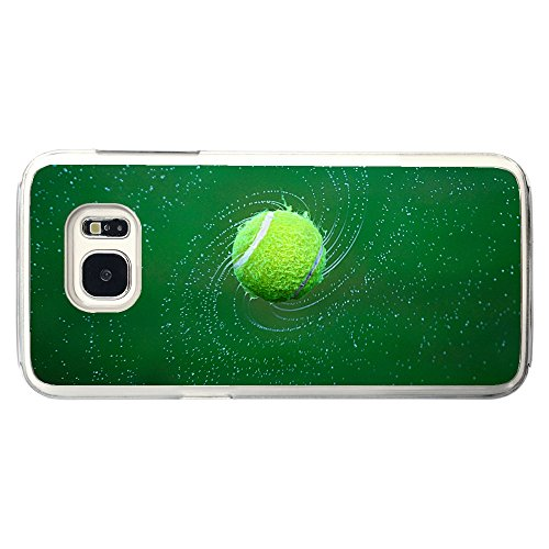 Image Of Wet Tennis Ball Spinning and Throwing of Spiral of Water Samsung Galaxy S7 Clear Phone Case