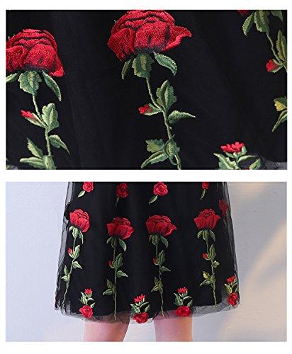 Annies Mariée Courte Appliques Florales Robes De Soirée De Bal De Soirée Retour À La Maison Pour Les Femmes Noires