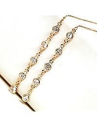XDOBO Fashion Plated Zircon Drop & Dangle Tassels Earrings Workforce Women's Earrings