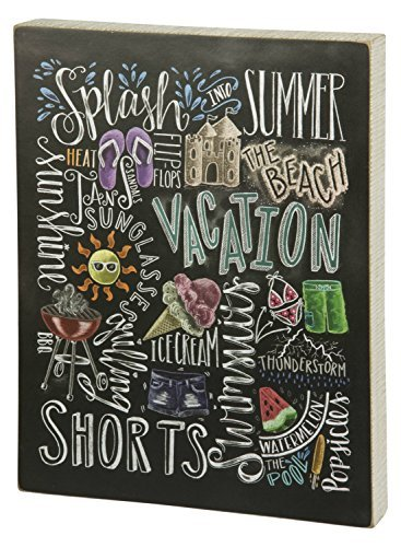 Primitives by Kathy 29956 Summer Vacation Chalk Sign