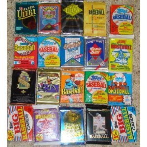 Lot of 25 Original Unopened Packs of Vintage Baseball Cards with BONUS AUTOGRAPHED SIGNED BASEBALL CARD GUARANTEED with every order!!!!!