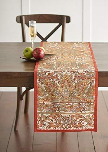 Maison d' Hermine Kashmir Paisley 100% Cotton Table Runner 1