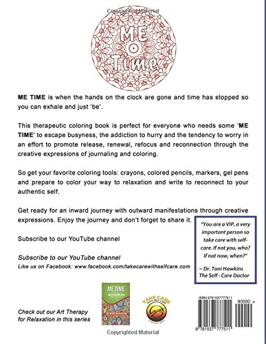 Amazon ME TIME Self Care Coloring Book And Journal Release Renew Refocus Reconnect Adult Books Volume 1 9781537777511