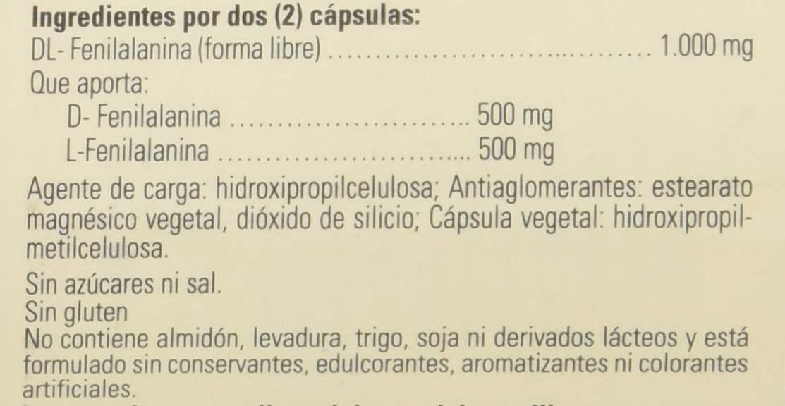Solgar DLPA (DL-Fenilalanina) Cápsulas vegetales de 500 mg - Envase de 50